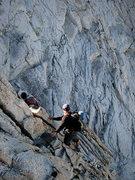 Rock Climbing Photo: the second downclimb