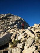 Rock Climbing Photo: Miguel starting up the ridge