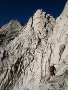 Rock Climbing Photo: traverse into the notch