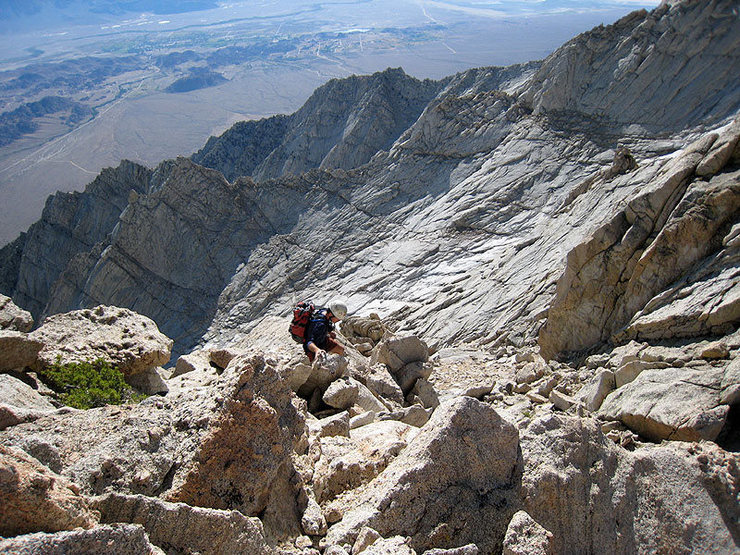 easier ground before the summit