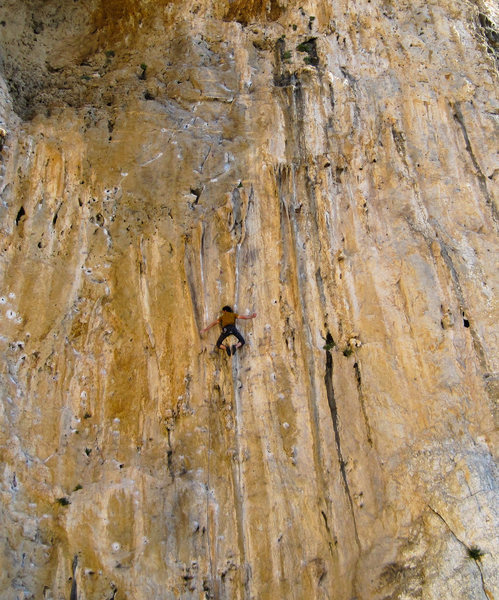 Rock Climbing Photo: Taking advantage of the no-hands rest prior to the...