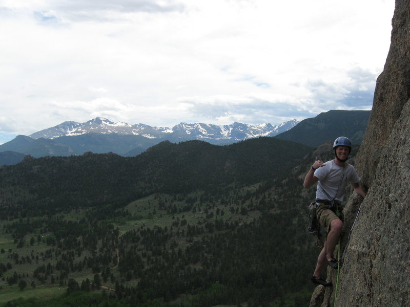 Rock Climbing Photo: Blake psyched after crusing the hand traverse.