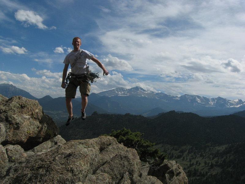 Rock Climbing Photo: Blake proving that white guys can't jump.