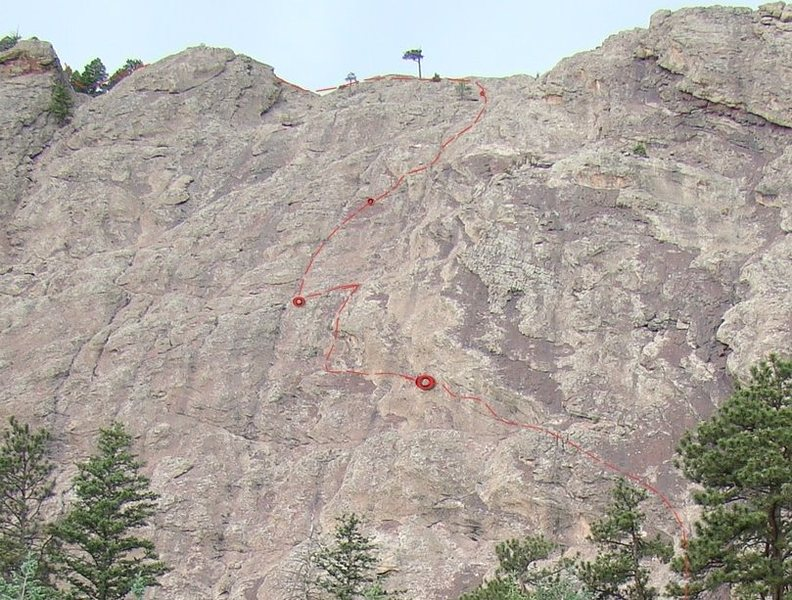 Rock Climbing Photo: Detail of the Slab East Face.