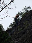 Rock Climbing Photo: Preparin' to rap off Whao!