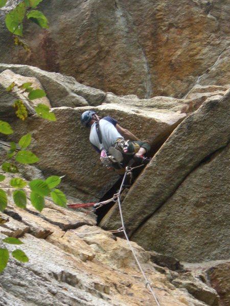 Mid-layback. (Climber: Steven Cherry; Photographer: Mark Schambra)