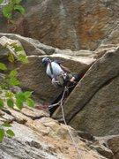 Rock Climbing Photo: Mid-layback. (Climber: Steven Cherry; Photographer...