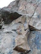 Rock Climbing Photo: Start of 1st pitch.  Follow the left hand line, an...