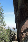 Rock Climbing Photo: Brenda makes a long, beautiful rappel off the Matr...