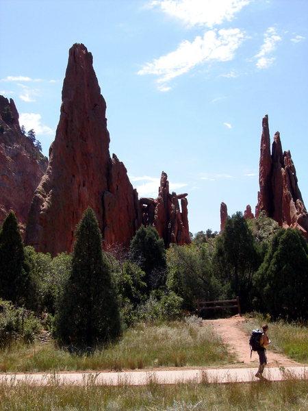 Rock Climbing Photo: Sarah and Montezuma Tower View, Garden of the Gods