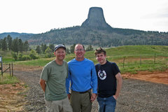 Rock Climbing Photo: Devils Tower Trio -- Hoot, Rich & Dan