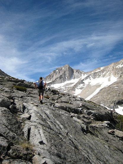 Rock Climbing Photo: Chris en route to BCS