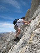 Rock Climbing Photo: Chris on a spicier variation