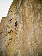 Rock Climbing Photo: Just below the crux