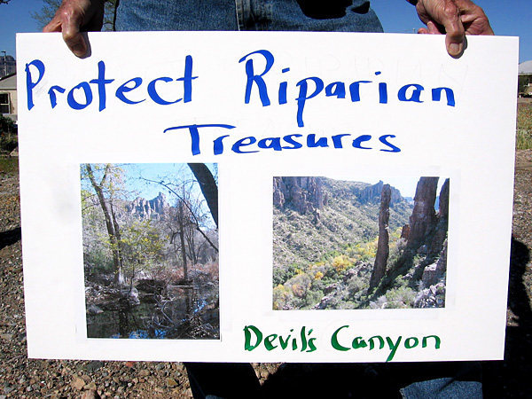 Devil's Canyon has underground aquifers. A 7,000ft Mine would affect ecological sustainability