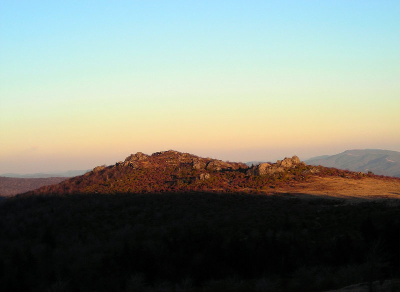 The view of the first cluster (Horizon Area on the right side, the Sunset Area on the left), as seen from the MRNRA