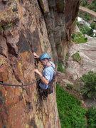 Rock Climbing Photo: Jonny on P1 of Alice.
