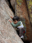 Rock Climbing Photo: This slab requires intense concentration.