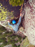 Rock Climbing Photo: Top of P3.
