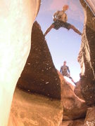 Rock Climbing Photo: Wide stems above water!