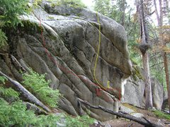 Rock Climbing Photo: Seam Boulder (historical name unknown).
