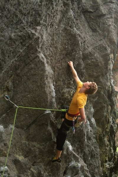 Rock Climbing Photo: otey on the first part of this link up (noodle's s...