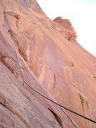 Rock Climbing Photo: Lance on belay top of P1