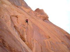Rock Climbing Photo: Paul starting P1. Photo Andy Ross