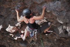 Rock Climbing Photo: Allison working through the lower difficulties aro...