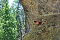 Rock Climbing Photo: James in the horizontal world of huge roof on &quo...