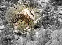 Rock Climbing Photo: Jitterbug Boulder from the road