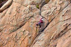 Rock Climbing Photo: Sarah enjoys Chicken Heads. June 2010.