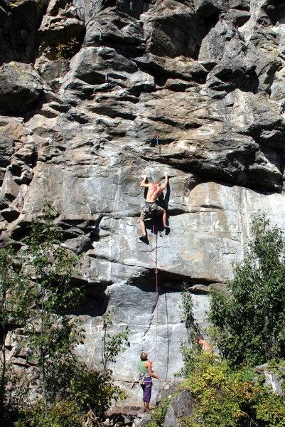 Rock Climbing Photo: Earl headed up Jude