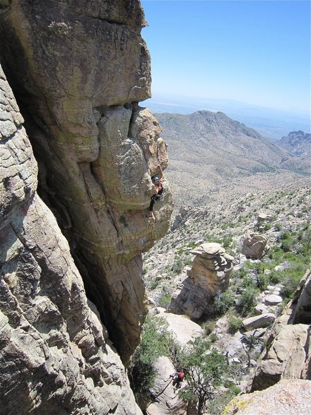 Rock Climbing Photo: Erica Bigio on the FA.