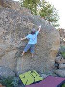 Rock Climbing Photo: The crux reach on Bump, V4