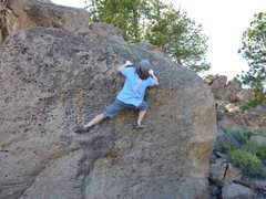 Rock Climbing Photo: Passed the crux and moving onto the slab on Bump, ...
