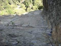 Rock Climbing Photo: Looking down the final corner of Munginella.