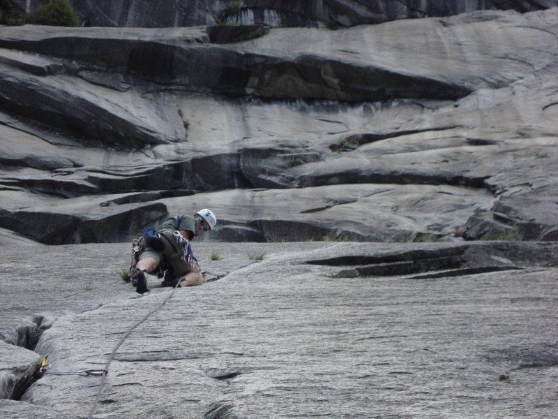 Rock Climbing Photo: The 2nd pitch of the Grack. It's an enjoyable crui...