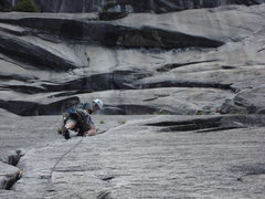 Rock Climbing Photo: The 2nd pitch of the Grack. It's an enjoyable crui...