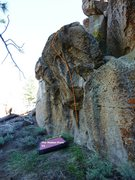 Rock Climbing Photo: Hidden Cliff Prow Right Topo