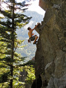 Rock Climbing Photo: a beautiful line with fun roof pulls on good holds...
