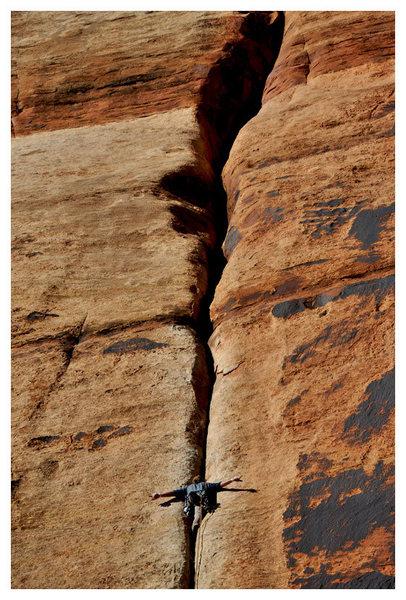 Rock Climbing Photo: Top no hands. Crucial!!