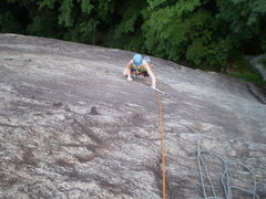 Rock Climbing Photo: Mary coming up P1 of Toads R' Us