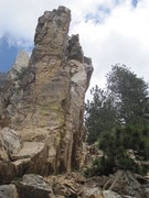 Rock Climbing Photo: The West Face of the Spring Crag from the approach...