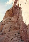Rock Climbing Photo: Looking up the SE Corner before our ascent. Our ro...