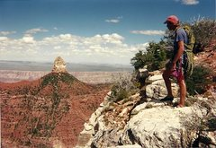 Rock Climbing Photo: Jimmy Symans on the summit of Sullivan Peak with M...