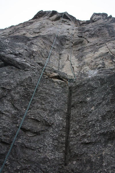 Rock Climbing Photo: Clip the low bolt and proceed to each thereafter u...