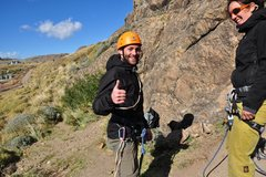 Rock Climbing Photo: After my first lead climb of the day. El Chaltén,...