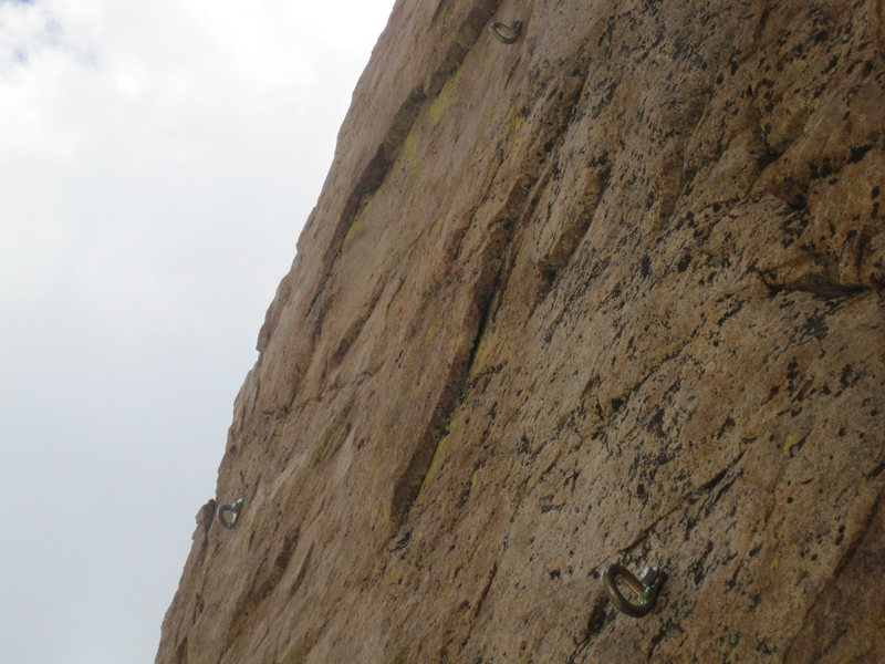 Rock Climbing Photo: The first 2 bolts of The Bandwagon.