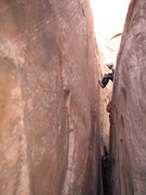 Rock Climbing Photo: Steve B working his way up one of the many long, p...